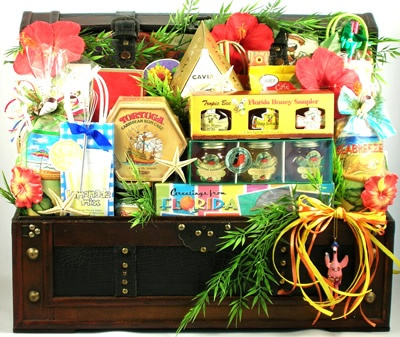 gift florida baskets basket gourmet tropical deluxe gifts premium trunk christmas summer specialty beach foods gators themed snacks food filled