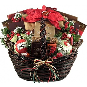 A Homespun Holiday, Christmas Gift Basket -