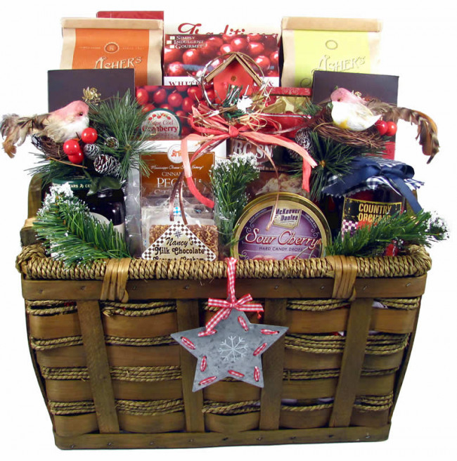 a bountiful holiday harvest holiday gift basket small