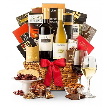 California Wine Tasting Gift Basket