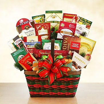 Seasons Greetings Merrymaker Deluxe Gift Basket