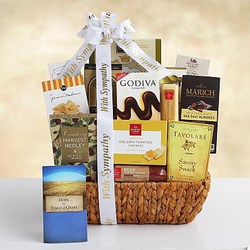 Caring Condolences Sympathy Gift Basket