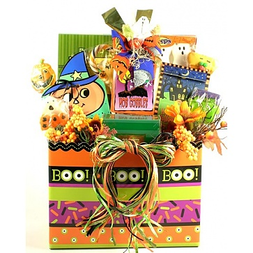 Ghostly Goodies Halloween Basket (Large)