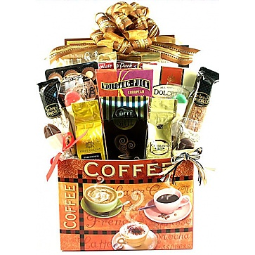 Village Caffe Deluxe Coffee Lovers Gift Basket