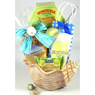 Seashells By The Seashore Gift Basket