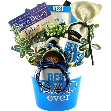 Best Dad Ever Gift Basket For Fathers