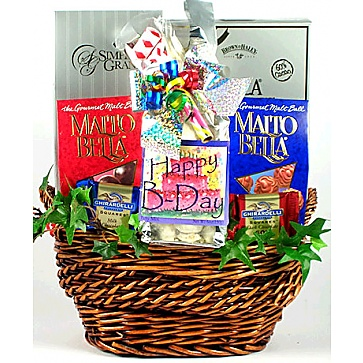 Birthday Greetings Birthday Gift Basket