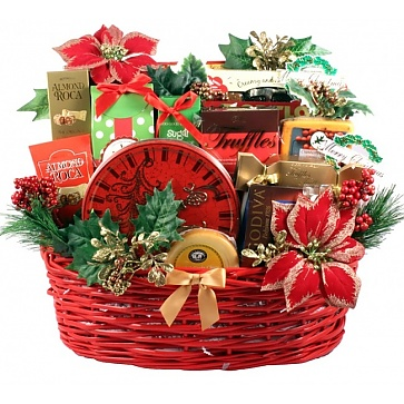Christmas Party, Large Holiday Gift Basket