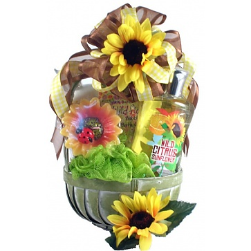 Citrus Sunflower Spa Basket