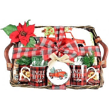 Cozy Christmas Gourmet Holiday Gift Basket
