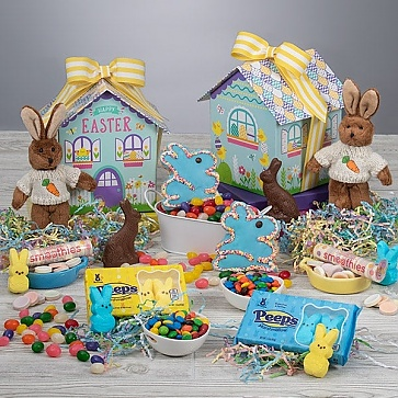 Double Bunny Easter Baskets