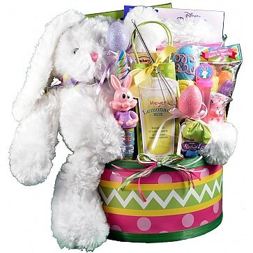 Easter Egg Hunt, Easter Basket For Kids - Large - Pink
