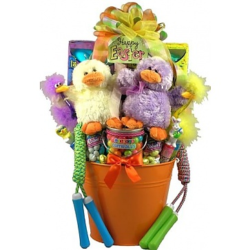 Party pail easter basket for one or more kids easter party pail easter basket for one or more kids negle Images