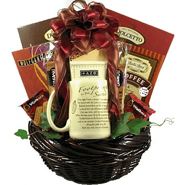 Footprints In The Sand Gift Basket