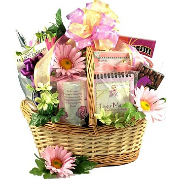 For Mom with Love - Mother's Day Gift Basket