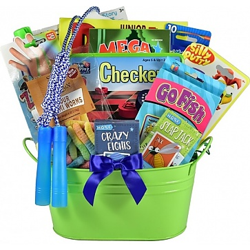 Fun and Games Gift Basket For Kids