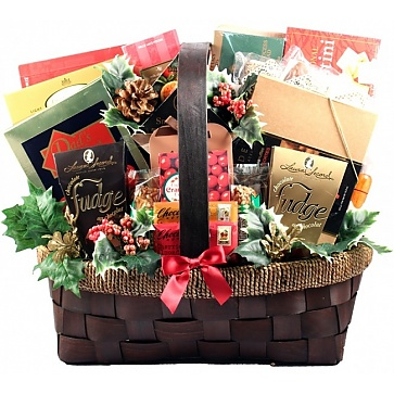 The Grandest Of Them All Deluxe Holiday Gift Basket (Medium)