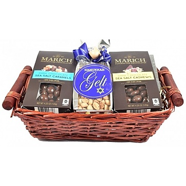 Happy Hanukkah Gift Basket - Top