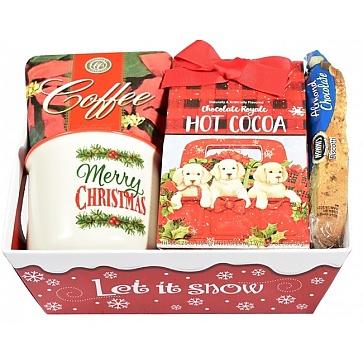 Holly Jolly Christmas Gift Basket - Merry Christmas Mug