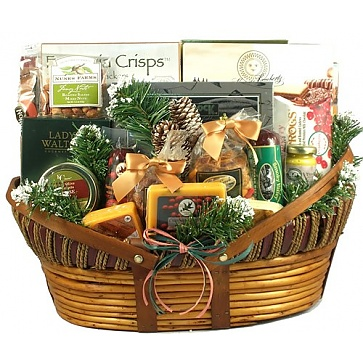 Home For The Holidays, Christmas Gift Basket (XL)