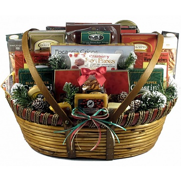 Home For The Holidays, Christmas Gift Basket (XXL)