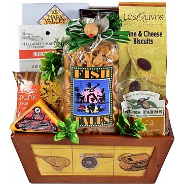 Hook, Line and Sinker Fishing Gift Basket