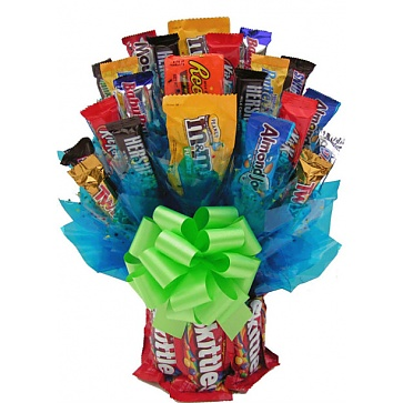 Skittles and More Candy Bouquet - Medium