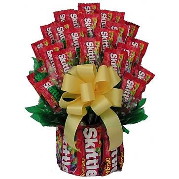 All Skittles Candy Bouquet - Medium