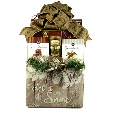 Let It Snow, Holiday Gift Basket (Large)