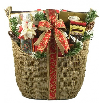 Majestic Christmas Deluxe Holiday Gift Basket (Large)