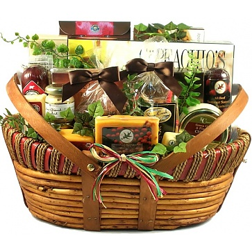 The Midwesterner, Cheese And Sausage Gift Basket (XL)