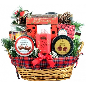 An Old Fashioned Christmas Gift Basket (Small)