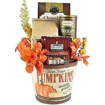 Shades of Autumn Gift Basket - Pumpkin Bucket