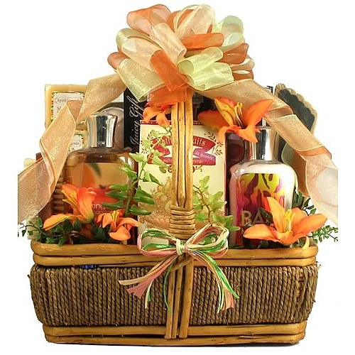 Gift Baskets For Womens Shelter : Island getaway tropical spa gift basket