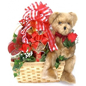 Bear Hugs Romantic Gift Basket - Romantic Gift Baskets for Couples