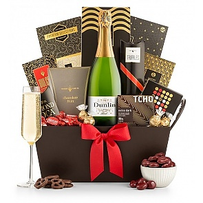Champagne and Chocolate Pairing Gift Basket - Champagne and Chocolate Pairing Gift Basket