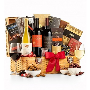 Country Estate Wine Gift Basket - Country Estate Wine Gift Basket