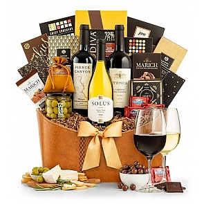 Premier Selection Wine Gift Basket - Premier Selection Wine Gift Basket