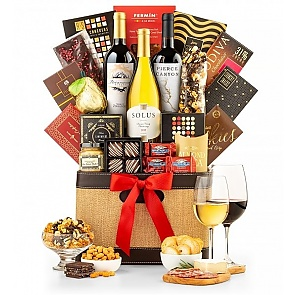 Three Cheers Wine Gift Basket - Three Cheers Wine Gift Basket