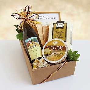 Cool & Classic Chardonnay Classic Wine & Cheese Gift - Cool & Classic Chardonnay Classic Wine & Cheese Gift