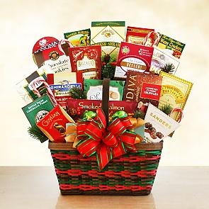 Seasons Greetings Merrymaker Deluxe Gift Basket - Seasons Greetings Merrymaker Deluxe Gift Basket