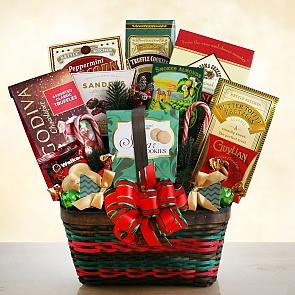 Seasons Greetings Christmas Merrymaker Gift Basket - Seasons Greetings Christmas Merrymaker Gift Basket