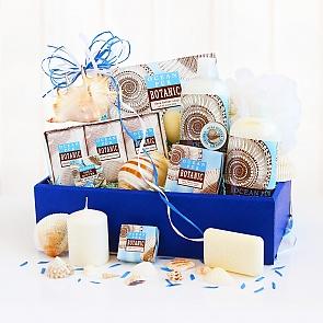 Seashell Ocean Spa Gift Basket - Spa Gift Baskets for Women