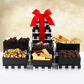 Holiday Elegance Gift Tower  - Holiday Elegance Gift Tower