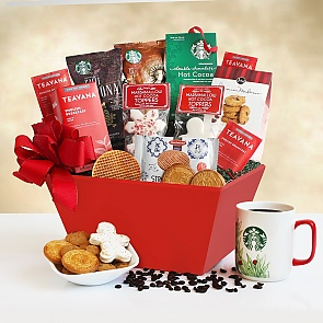 Starbucks Christmas Morning Gift Basket - Starbucks Christmas Morning Gift Basket #StarbucksGiftBasket #ChristmasGiftBasket