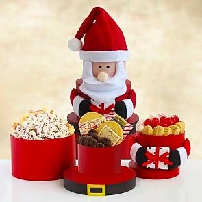 Ho Ho Ho Santa Tower of Sweets - Ho Ho Ho Santa Tower of Sweets #ChristmasGiftTower
