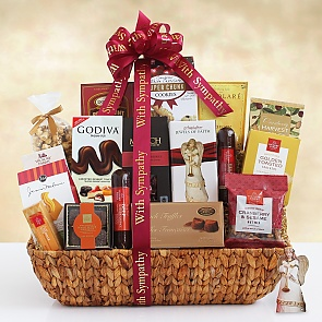 Peace, Prayer, and Blessings Sympathy Gift Basket - Peace, Prayer, and Blessings Sympathy Gift Basket
