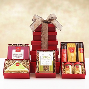 Mouthwatering Meat and Cheese Gift Tower  - Mouthwatering Meat and Cheese Gift Tower