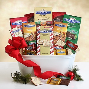 Ghirardelli Holiday Dream Gift Basket - Ghirardelli Holiday Dream Gift Basket