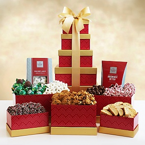 Majestic Holiday Tower of Treats  - Majestic Holiday Tower of Treats